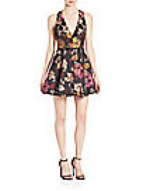 Alice   Olivia - Mollie Fit- -Flare Dress at Saks Fifth Avenue