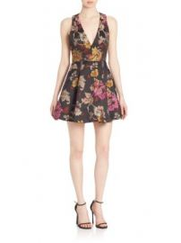 Alice   Olivia - Mollie Fit- -Flare Dress at Saks Off 5th
