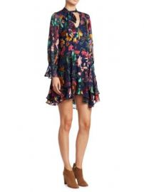 Alice   Olivia - Moore Floral Silk Dress at Saks Fifth Avenue
