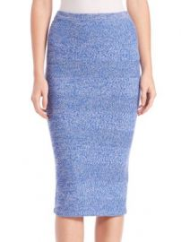 Alice   Olivia - Morena Herringbone Knit Merino Wool Midi Skirt at Saks Off 5th