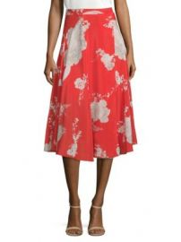 Alice   Olivia - Nanette Silk Floral Midi Skirt at Saks Fifth Avenue