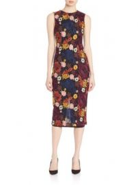 Alice   Olivia - Nat Embroidered Midi Dress at Saks Off 5th