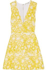 Alice   Olivia   Pacey guipure lace mini dress at Net A Porter