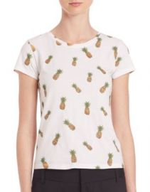 Alice   Olivia - Robin Embellished Tee at Saks Off 5th