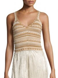 Alice   Olivia - Sandrine Crochet Tank Top at Saks Off 5th