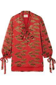Alice   Olivia   Shelia devor  -chiffon blouse at Net A Porter