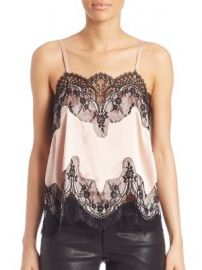 Alice   Olivia - Sondra Lace Trim Camisole at Saks Fifth Avenue