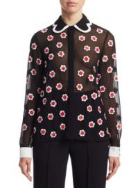Alice   Olivia - Willa Embellished Blouse at Saks Fifth Avenue