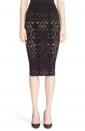 Alice   Olivia  Ani  Multicolor Pointelle Knit Pencil Skirt at Nordstrom