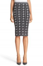 Alice   Olivia  Delphie  Wool Knit Houndstooth Pencil Skirt at Nordstrom