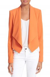 Alice   Olivia  Harvey  Drape Front Jacket at Nordstrom