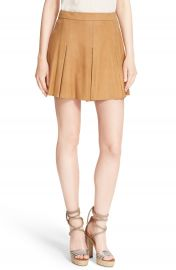 Alice   Olivia  Lee  Pleat Suede Skirt at Nordstrom