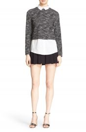 Alice   Olivia  Maelynn  Layer Look Sweatshirt at Nordstrom