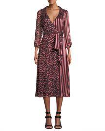 Alice   Olivia Abigail Wrap Dress at Neiman Marcus