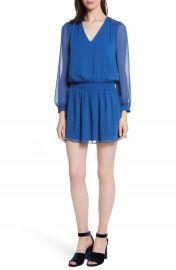 Alice   Olivia Adaline Smocked Waist Minidress at Nordstrom