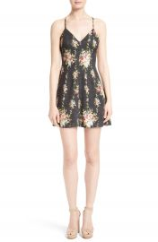 Alice   Olivia Alves Floral Fit   Flare Dress at Nordstrom