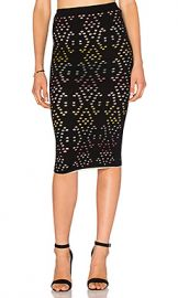 Alice   Olivia Ani Pencil Skirt in Black  amp  Multi from Revolve com at Revolve