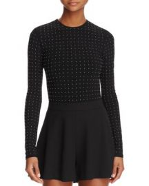 Alice   Olivia Britney Studded Bodysuit at Bloomingdales