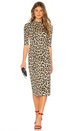 Alice   Olivia Delora Dress in Textured Leopard from Revolve com at Revolve