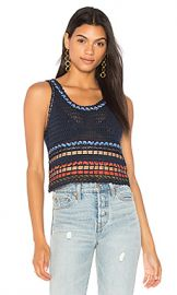 Alice   Olivia Dorian Tank in Indigo  amp  Multi from Revolve com at Revolve