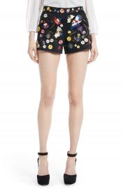 Alice   Olivia Embroidered Shorts at Nordstrom