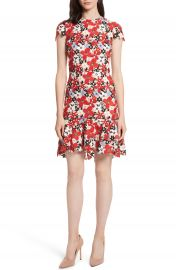 Alice   Olivia Imani Floral Fit   Flare Dress at Nordstrom