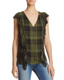 Alice   Olivia Janet Side-Ruffle Blouse at Bloomingdales