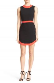 Alice   Olivia Kathleen Curved Hem Sheath Dress at Nordstrom