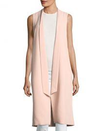 Alice   Olivia Keaton Open-Front Collar Long Vest   Neiman Marcus at Neiman Marcus
