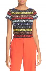 Alice   Olivia Kelli Sequin Top at Nordstrom