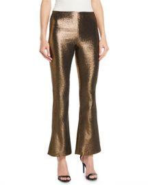 Alice   Olivia Kylyn High-Waist Back-Zip Flare Pants at Neiman Marcus