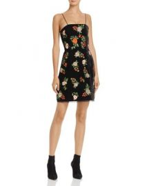 Alice   Olivia Launa Embroidered Velvet Dress at Bloomingdales