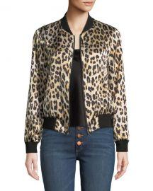 Alice   Olivia Lonnie Reversible Silk Bomber Jacket at Neiman Marcus