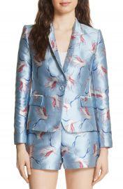 Alice   Olivia Macey Bird Print Jacket at Nordstrom