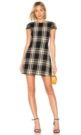 Alice   Olivia Malin Dress in Black  amp  Yellow from Revolve com at Revolve