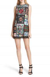 Alice   Olivia Marcelina Embroidered Mini Dress at Nordstrom
