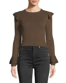 Alice   Olivia Mittie Pullover with Ruffles at Neiman Marcus