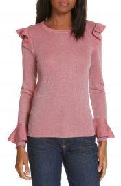 Alice   Olivia Mittie Ruffled Sweater at Nordstrom