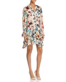 Alice   Olivia Moore Layered-Skirt Tie-Neck Dress at Bloomingdales