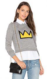 Alice   Olivia Nikia Crown Sweater in Medium Grey  amp  Multi from Revolve com at Revolve