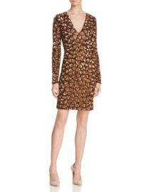 Alice   Olivia Nora Metallic Embellished Dress at Bloomingdales