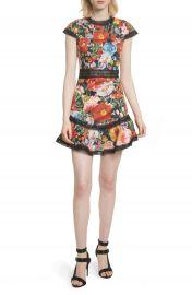 Alice   Olivia Rapunzel Fit  amp  Flare Dress at Nordstrom