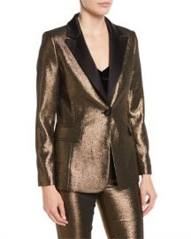 Alice   Olivia Robert Wide Notch-Collar Blazer at Neiman Marcus