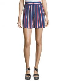 Alice   Olivia Scarlet High-Waist Striped Flutter Shorts   Neiman Marcus at Neiman Marcus