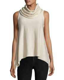 Alice   Olivia Sharry Sleeveless Turtleneck Pullover  Cream at Neiman Marcus