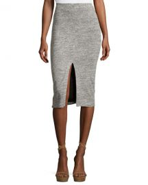 Alice   Olivia Spiga Slit-Front Knit Midi Pencil Skirt at Neiman Marcus