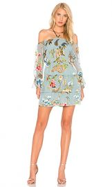 Alice   Olivia Waylon Dress in Icy Aqua Multi from Revolve com at Revolve