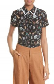 Alice   Olivia Willa Silk Blouse at Nordstrom