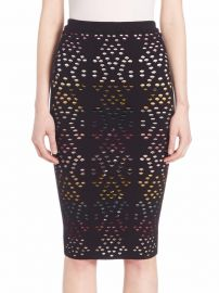 Alice Olivia Ani Pointelle Pencil Skirt at Saks Off 5th