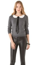 Alice Olivia Delray Sequin Tie Sweater at Shopbop